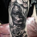 Rachelmarleytattoo - day of the dead girl realism