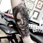 Rachelmarleytattoo - dreamy woman tattoo