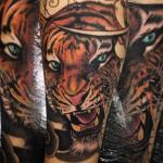 tiger tattoo full colour by sean crane