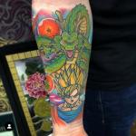 naruto dragon ball z tattoo sleeve sean crane full colour