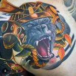 sean crane ape king tattoo chest